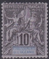 French Oceania, Scott #6, Mint No Gum, Navigation And Commerce, Issued 1892 - Oceania (1892-1958)