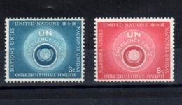 1957 UNO New York: Scott:51/52, Yvert:50/1, Michel:57/58, ** MNH, Internationale UN-Truppe, ABO-Qualität!!, S. Scan - Neufs