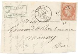 Lot N°51579  Variété/n°16/fragment Devant De Lettre, Oblit PC 2751 Roybon, Isère (37), Ind 8, Anneau De Lune Dérièrre La - 1853-1860 Napoleone III