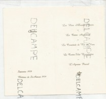 Menu De Communion De Claudia Le 10 Mai 1964. Dorée. - Menus