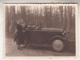 Old Timer - Couple - Photo 8.5 X 12 Cm - Automobiles