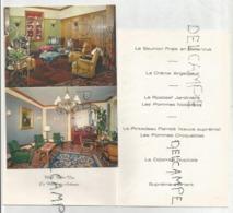 Menu De Mariage De Francine Et Carlos Le 28 Février 1972. Dorée. Carte Postale: L'hôtel Belle-Vue à La Roche-en-Ardenne - Menus