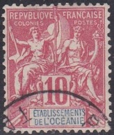French Oceania, Scott #7, Used, Navigation And Commerce, Issued 1892 - Oceania (1892-1958)