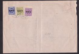 Austria: Offical Postal Payment Form, 1947, 3 Postage Due Overprint Stamps, Zustellkarte, Rare (minor Damage) - 1945-.... 2a Repubblica
