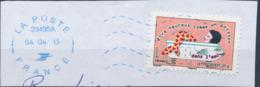 """France - Sourires 2013 - """"Heureux Comme..."""" YT A791 Obl. Ondulations Et Dateur Rond Bleu Sur Fragment - Adhésifs (autocollants)"""
