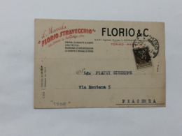 CARTOLINA POSTALE MARSALA FLORIO STRAVECCHIO TORINO 1935 - History