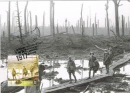 34603. Tarjeta Maxima CANBERRA (Australia) 2017. World War . Australian Battle Of YPRES - Militares