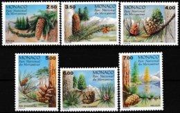 Série De 6 Timbres-poste Gommés Neufs** - Conifères Du Parc Du Mercantour - N° 1799/1804 (Yvert) - Monaco 1991 - Monaco