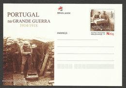 Portugal Dans La Grande Guerre 1914/18 Carte Entier Postal 2016 Portugal At World War I Postal Stationery - Guerre Mondiale (Première)