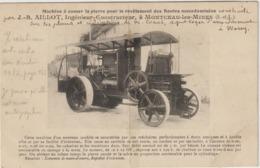 CPA   MACHINE A CASSER LA PIERRE POUR LE REVETEMENT DES ROUTES MACADAMISEES  J B AILLOT   RARE - Tractors
