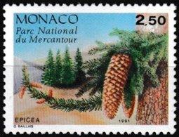 Timbre-poste Gommé Neuf** - Conifères Du Parc Du Mercantour Picea Excelsa Link - N° 1799 (Yvert) - Monaco 1991 - Monaco