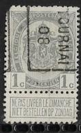 Tournai 1908  Nr. 1158B  Hoekje Linksboven - Precancels