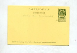 Carte Postale 5 C Armoirie - Stamped Stationery