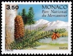 Timbre-poste Gommé Neuf** - Conifères Du Parc Du Mercantour Abies Alba Mill - N° 1800 (Yvert) - Monaco 1991 - Monaco