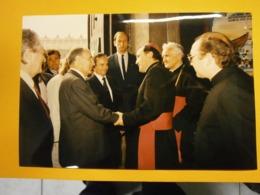 Photographie Presse François Mitterrand,Pologne Lot I,année 1989,très Bel état,format 24X16cm,envoi En Lettre économique - Personnes Identifiées