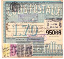 """CP 17 X 2, 24 Et 27 Sur Bulletin D'expédition """"jouets Meccano"""" à Paris, Pour Chalon-sur-Saône (1920) - Parcel Post"""