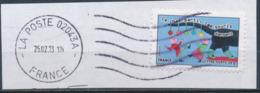 """France - Sourires 2013 - """"Le Chat Parti..."""" YT A795 Obl. Ondulations Et Dateur Rond Sur Fragment - Adhésifs (autocollants)"""