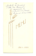 Menu  à L'occasion Du Jubilaire De L'abbé Joseph Warnotte Aumonier Institut St-Joseph à THEUX 1951/ Voir Descriptif - Menus