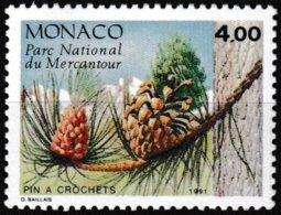 Timbre-poste Gommé Neuf** - Conifères Du Parc Du Mercantour Pinus Uncinata Mill - N° 1801 (Yvert) - Monaco 1991 - Monaco