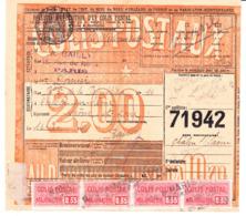 Bande De 4 CP 25 Sur Bulletin D'expédition  De Paris, Pour Chalon-sur-Saône (1920) - Parcel Post