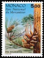 Timbre-poste Gommé Neuf** - Conifères Du Parc Du Mercantour Pinus Sylvestris L. - N° 1802 (Yvert) - Monaco 1991 - Monaco