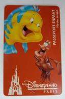 BILLET D'ENTREE CARTE PASS WALT DISNEY PARC EURODISNEY 023 DISNEYLAND LA PETITE SIRENE - Tickets - Vouchers