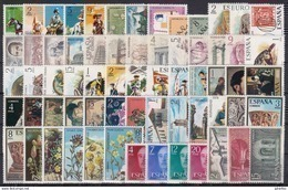 ESPAÑA 1974 Nº 2167/2228 AÑO NUEVO COMPLETO,65 SELLOS - España