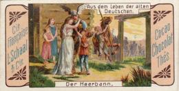 Chromo Compagnie Française L. Schaal Aus Dem Leben Der Alten Deutschen Der Heerbann - Autres
