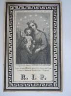 Doodsprentje Maria Agnes Hanckar °Maastricht 1787 + Reckheim 1869 Maria En Kind Benziger Frères Editeur Einsiedeln - Devotion Images