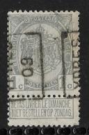 Ypres 1909  Nr. 1355A - Precancels