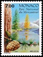 Timbre-poste Gommé Neuf** - Conifères Du Parc Du Mercantour Larix Decidua Mill - N° 1804 (Yvert) - Monaco 1991 - Monaco