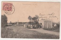 Cpa  72    Challes   La Gare - France
