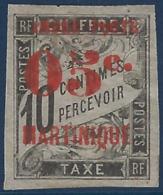 France Colonies Martinique N°23 ( ) Neuf Variété T Absent à Timbre (non Signalé)  RR Signé Calves - Martinique (1886-1947)