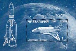 Raumfahrt 1988 Bulgarien Block 182A ** 2€ Sowjetunion Fähre BURAN Bloque Hojita M/s Bloc Ss Space Sheet Bf Bulgaria - Hojas Bloque