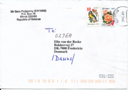 Belarus Cover Sent To Denmark 24-12-2008 Topic Stamps (the Cover Is Bended) - Belarus