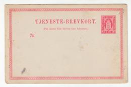 Denmark Old Unused Postal Stationery Postcard Tjeneste-Brevkort.  B191114 - Interi Postali
