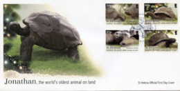 St Helena 2019 FDC Jonathan World's Oldest Animal On Land 4v Set Cover Tortoises Turtles Stamps - Turtles