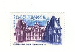 Château De Maisons-Laffitte YT 2064 Avec GOMME MATE + Normal . Rare , Voir Le Scan . Maury N° 2069 + 2069a : 40.30 € . - Variétés Et Curiosités
