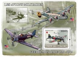 COMORES 2008 - Aircraft Of World War II 1939-1945. YT 117, Mi 1944/BL448, Sc 994 - Comores (1975-...)