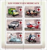 COMORES 2008 - Transport Of Medical/ Red Cross. YT 1219-1224, Mi 1855-1860, Sc 995 - Comoros