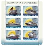 COMORES 2008 - Cruise Ships. YT 1225-1230, Mi 1916-1921, Sc 1011 - Comores (1975-...)