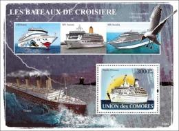 COMORES 2008 - Cruise Ships. YT 119, Mi 1924/BL446, Sc 1012 - Comoros