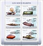 COMORES 2008 - Submarines. YT 1237-1242, Mi 1910-1915, Sc 997 - Comores (1975-...)