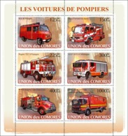 COMORES 2008 - Fire Engines. YT 1297-1302, Mi 1819-1824, Sc 1021 - Comores (1975-...)