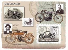 COMORES 2008 - Old Motorcycles. YT 125, Mi 1853/BL435, Sc 1032 - Comores (1975-...)
