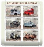 COMORES 2008 - Combat Cars. YT 1273-1278, Mi 1843-1848, Sc 1029 - Comores (1975-...)