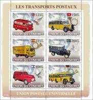 COMORES 2008 - Post Transports. YT 1267-1272, Mi 1813-1818, Sc 1013 - Comoros