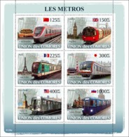 COMORES 2008 - Metro. YT 1255-1260, Mi 1862-1867, Sc 1015 - Comores (1975-...)