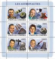 COMORES 2008 - Astronauts & Space. YT 1327-1332, Mi 2009-2014, Sc 1049 - Comoros