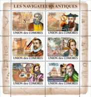 COMORES 2008 - Great Navigators & Sail Ships. YT 1345-1350, Mi 2016-2021, Sc 1057 - Komoren (1975-...)